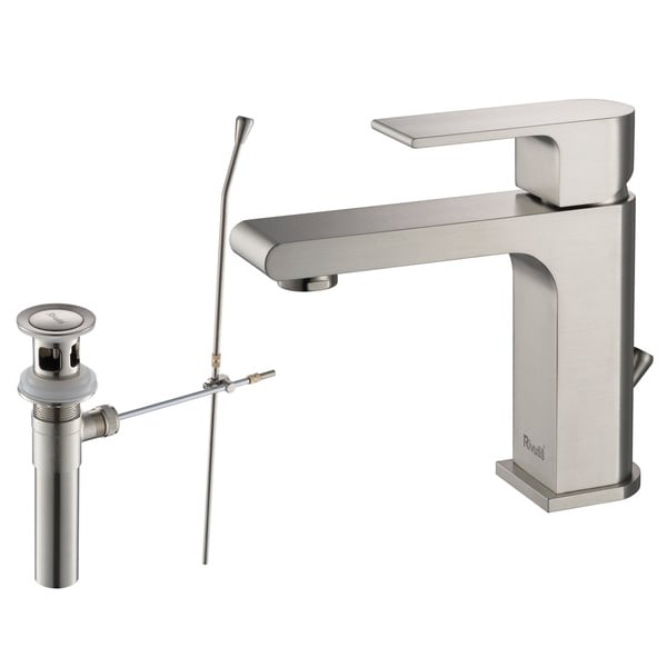 Rivuss Danube LeadFree Solid Brass SingleLever Bathroom Faucet - Nickel finish bathroom faucets