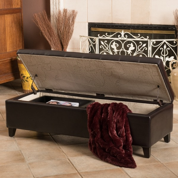 Christopher Knight Home Sheffield Storage Ottoman Free