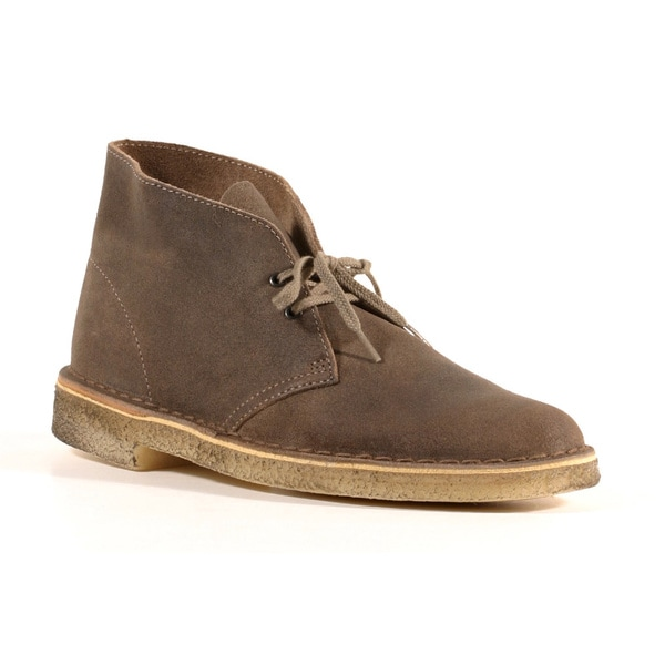 Shop Clarks Men S Taupe Suede Desert Mali Boots Free Shipping