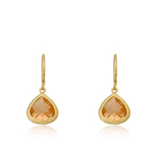 Riccova Arctic Mist 14k Yellow Goldplated Brass Cubic Zirconia Dangle Earrings