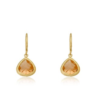 Riccova Arctic Mist Yellow Goldplated Brass Cubic Zirconia Dangle Earrings
