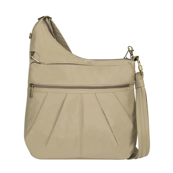 Travelon Anti-Theft Signature 3-compartment Crossbody Bag