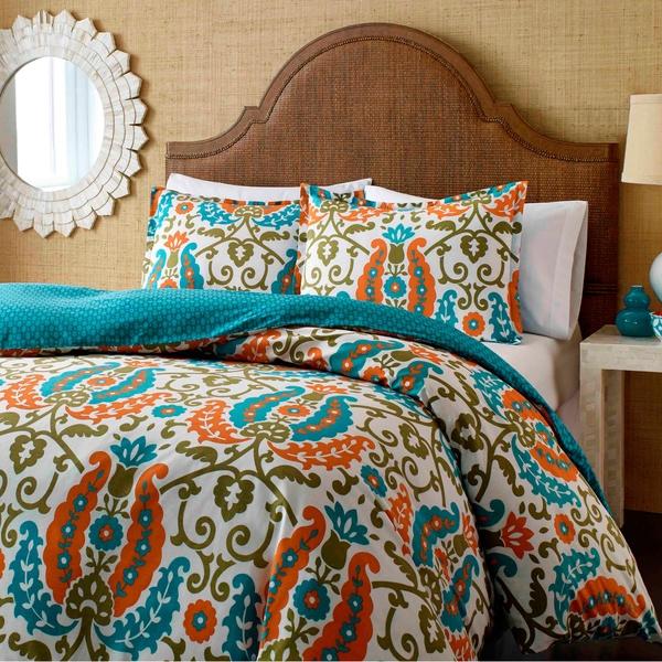 City Scene Constantine Cotton Reversible 3-piece Comforter Set