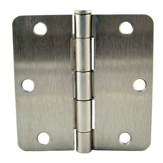 "GlideRite 3.5"" x 1/4"" Radius Satin Nickel Door Hinges (Pack of 12)"
