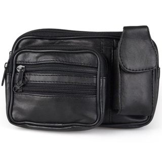 Journee Collection Women's Leather Multi-pocket Fanny Pack