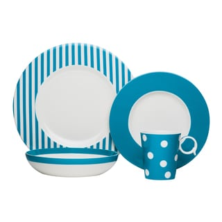 Red Vanilla Freshness Mix & Match Turquoise 4-piece Place Setting