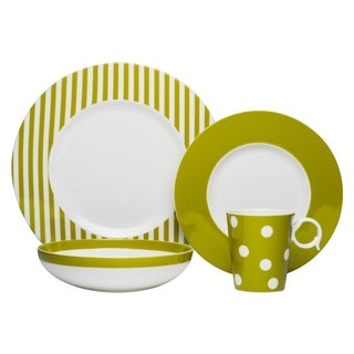 Red Vanilla Freshness Mix & Match Olive 4-piece Place Setting