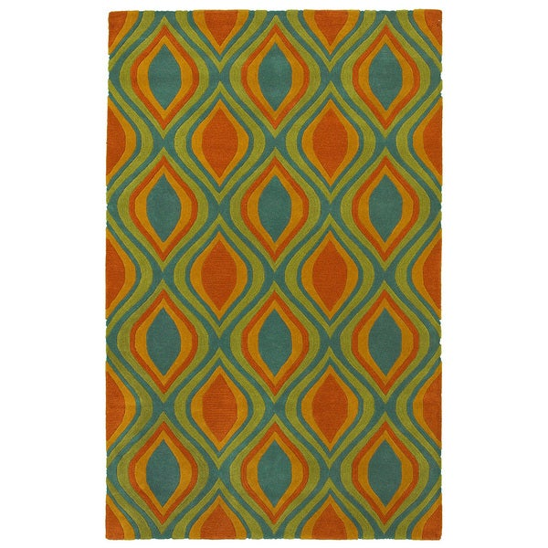 LR Home Vibrance Blue Abstract Area Rug (5' x 7'9) - 5' x 7'9