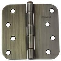 """GlideRite 4"""" x 5/8"""" Radius Antique Brass Door Hinges (Pack of 12)"""