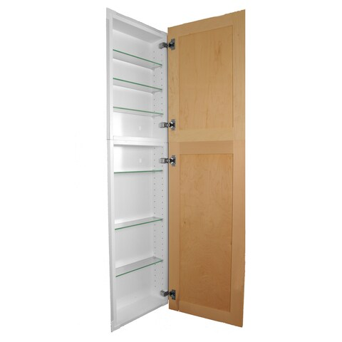 62-inch Shaker Style Frameless Recessed in wall Bathroom Medicine Storage Pantry Cabinet