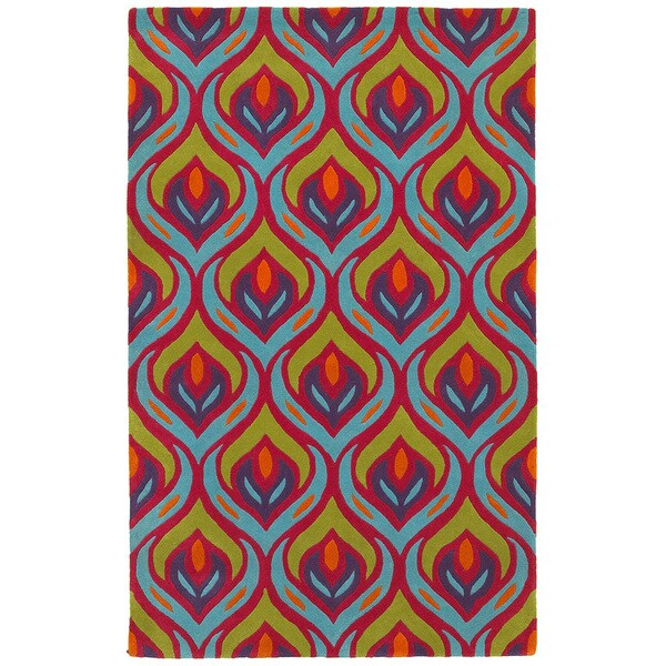 LR Home Vibrance Multi-colored Abstract Area Rug - 5' x 7'9