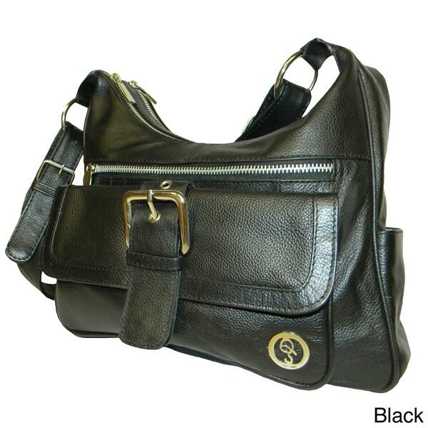 Qs Cowhide Leather Handbag