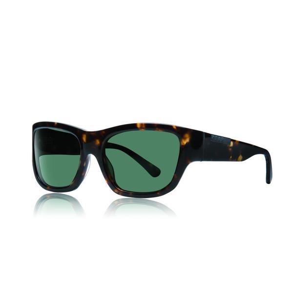 Shop Raen Dorset Brindle Tortoise Sunglasses With Green