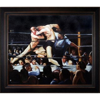 George Wesley Bellows 'Stag Night at Sharkey's' Hand Painted Framed Canvas Art