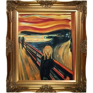 Edvard Munch 'The Scream' Hand Painted Framed Canvas Art