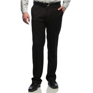 Dockers Men's Black Striped Flat Front Suit Separates Pants