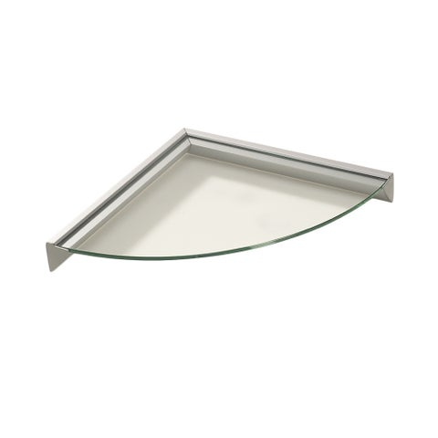 Wallscapes Essentials 12-inch Corner Clear Glass Shelf Kit