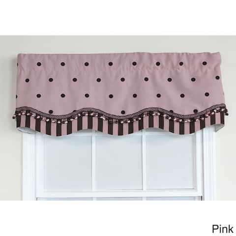 RLF Home Pink Polka Dot Glory Window Valance