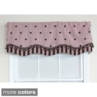 RLF Home Pink Polka Dot Glory Window Valance