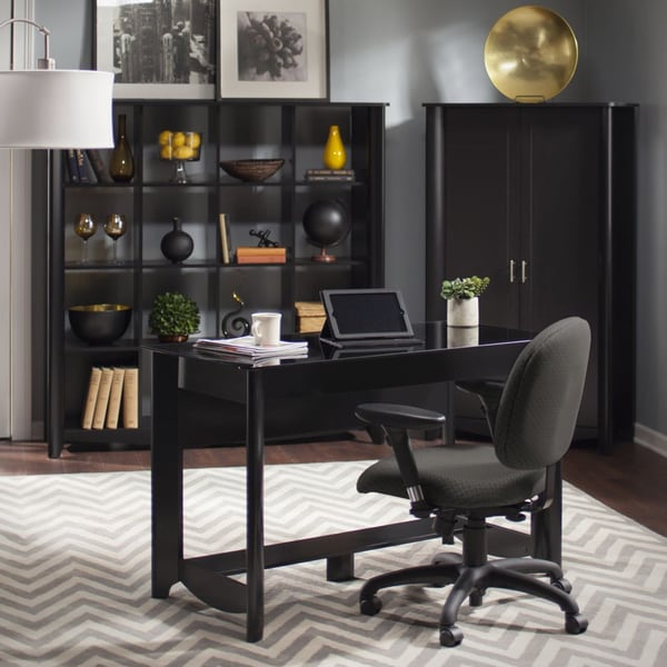 Aero Writing Desk and 16-cube Bookcase/Room Divider Set - Free