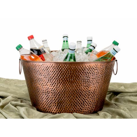 Old Dutch Oval Antique Hammered Copper 7.9-gallon Party Tub