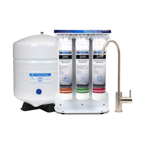 Boann 5-stage Reverse Osmosis Water Filter System with Quick-twist Filters