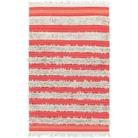 PEPPER Hand-woven Feather Stripes Area Rug (8' x 10') - 8' x 10'