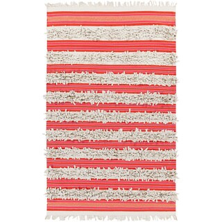 PEPPER Hand-woven Feather Stripes Area Rug (8' x 10')