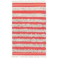 Pepper Hand-woven Feather Stripes Area Rug (5' x 8') - 5' x 8'