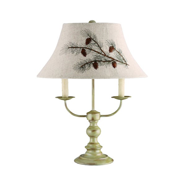Somette 3-Light Taupe Table Light
