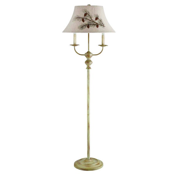 Somette 3-Light Taupe Floor Lamp