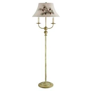 Somette 3-Light Taupe Floor Lamp