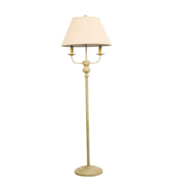 Somette Taupe Floor Lamp with Linen Shade