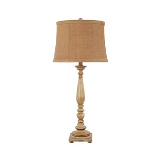 Somette  1-Light Antique White Traditional Table Lamp