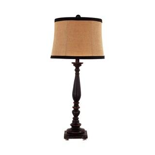 Somette 1-Light Black Traditional Table Lamp