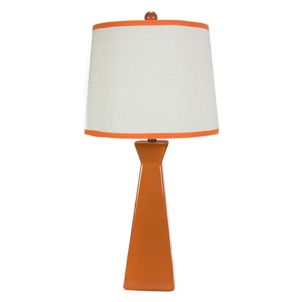 Somette Orange Ceramic Lamp with Coordinated Shade
