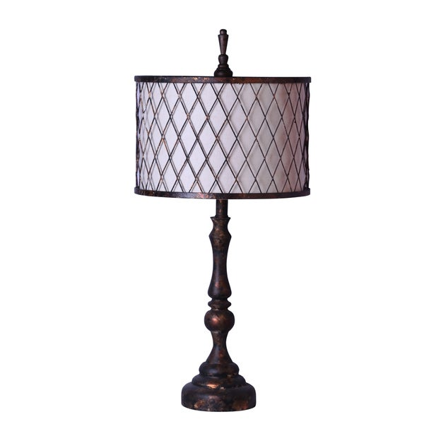 Shop Somette Industrial Chic Table Lamp Bronze Finish With Metal