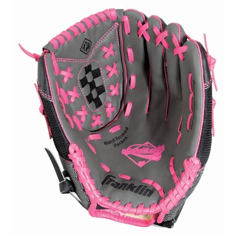 Franklin Sports Windmill Series 12-inch Gray/ Pink Left Handed Thrower Softball Glove