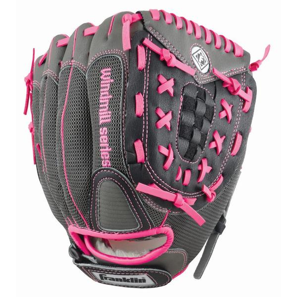 Franklin Sports Windmill Series 11-inch Grey/ Pink Left Handed Thrower Softball Glove