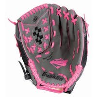 Franklin Sports Windmill Series 12-inch Grey/ Pink Right Handed Thrower Softball Glove