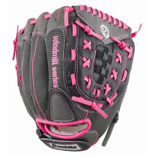 Franklin Sports Windmill Series 11-inch Grey/ Pink Right Handed Thrower Softball Glove