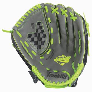 Franklin Sports Windmill Series 11-inch Grey/ Lime Left Handed Thrower Softball Glove