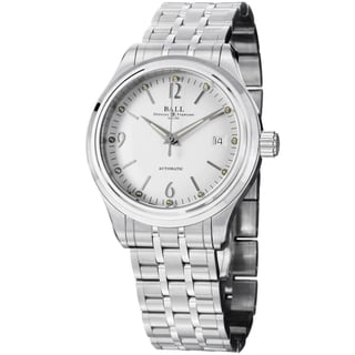Ball Men's NM1060D-SJ-WH 'Trainmaster Streamliner' Silver Dial Stainless Steel Watch