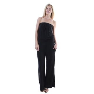 24/7 Comfort Apparel Women's Two Pocket Sleeveless Jumpsuit