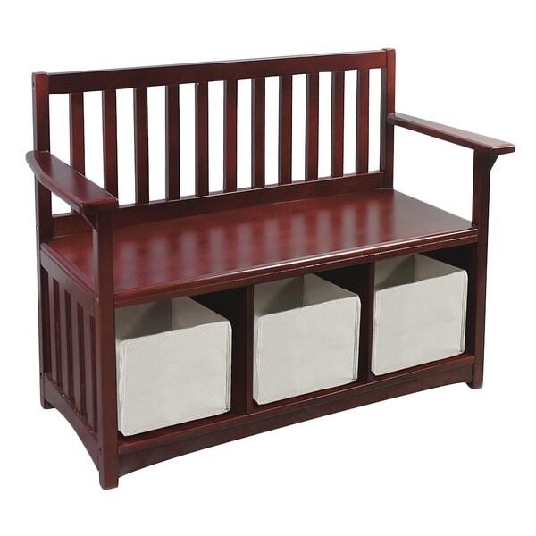 Classic Espresso Storage Bench Free Shipping Today 16286222