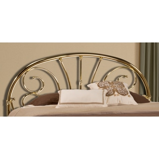 Jackson Classic Brass Plate Metal Headboard with Scrollwork