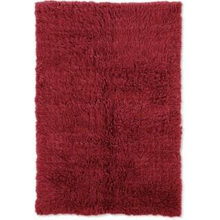 Linon Flokati Heavy Red Rug (8' x 10')