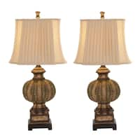 Casa Cortes Imperial Traditional 34-inch Handcrafted Table Lamp (Set of 2)