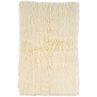 Linon Flokati Heavy Natural Rug (10' x 16')