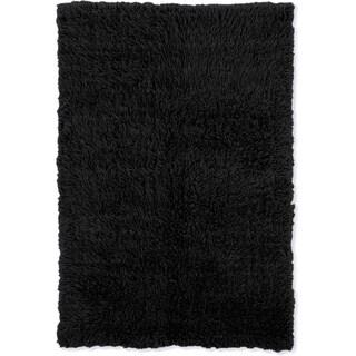 Linon Flokati Heavy Black Rug (2' x 5')